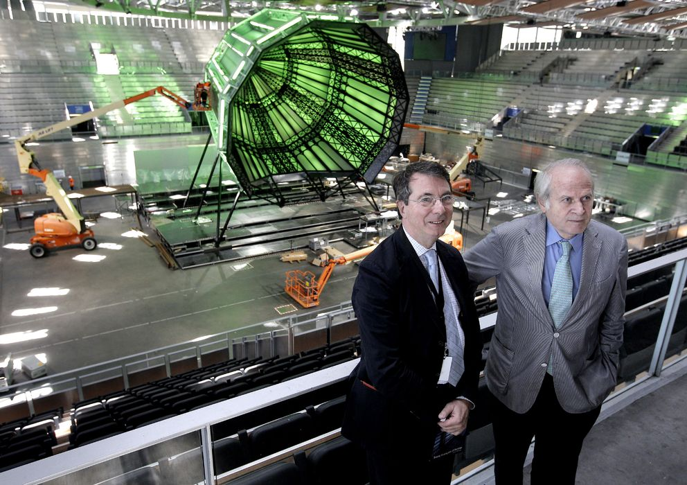 Foto: Gerard Mortier, intendente del Teatro Real, y Miguel Muñiz, director general del Teatro Real (EFE)