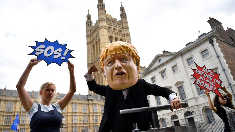 Protestas anti-Brexit frente a Westminter. (EFE)