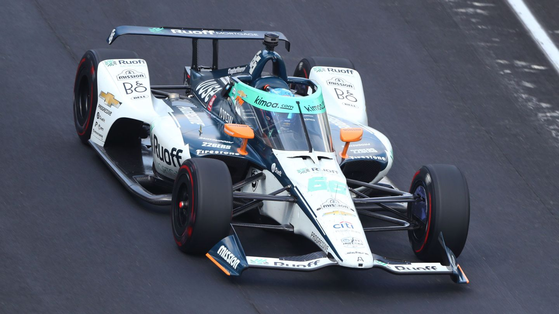 Fernando Alonso durante las 500 Millas de Indianápolis. (USA TODAY)