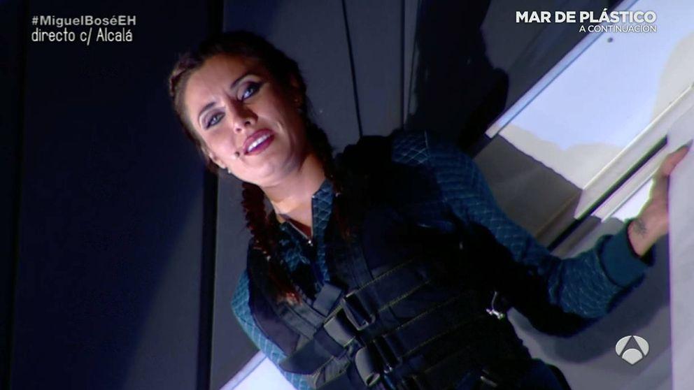 Pilar Rubio salta al vacío desde un cuarto piso en 'El hormiguero'