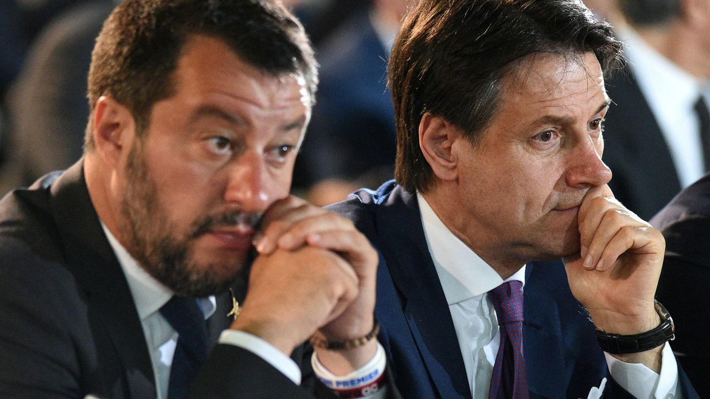 Matteo Salvini y Giuseppe Conte. (Reuters)