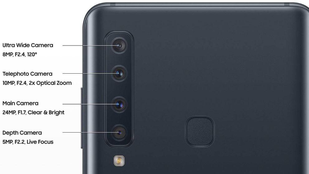 Samsung Galaxy A9: este es el móvil 'asequible' que llega con 4 cámaras traseras