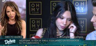 Post de La hija de Terelu Campos, Alejandra Rubio, eclipsa el 'Deluxe' de Tejado