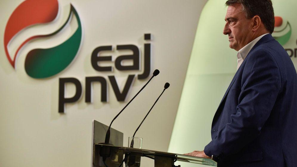 Foto: El Portavoz del PNV en el Congreso de los Diputados, Aitor Esteban. (EFE)