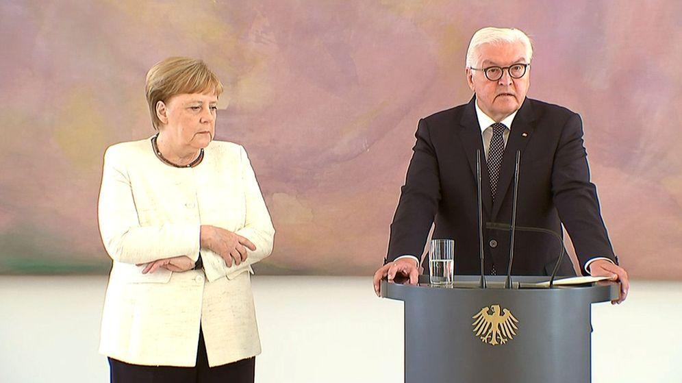 Foto: Angela Merkel, durante el acto de hoy. (Reuters)