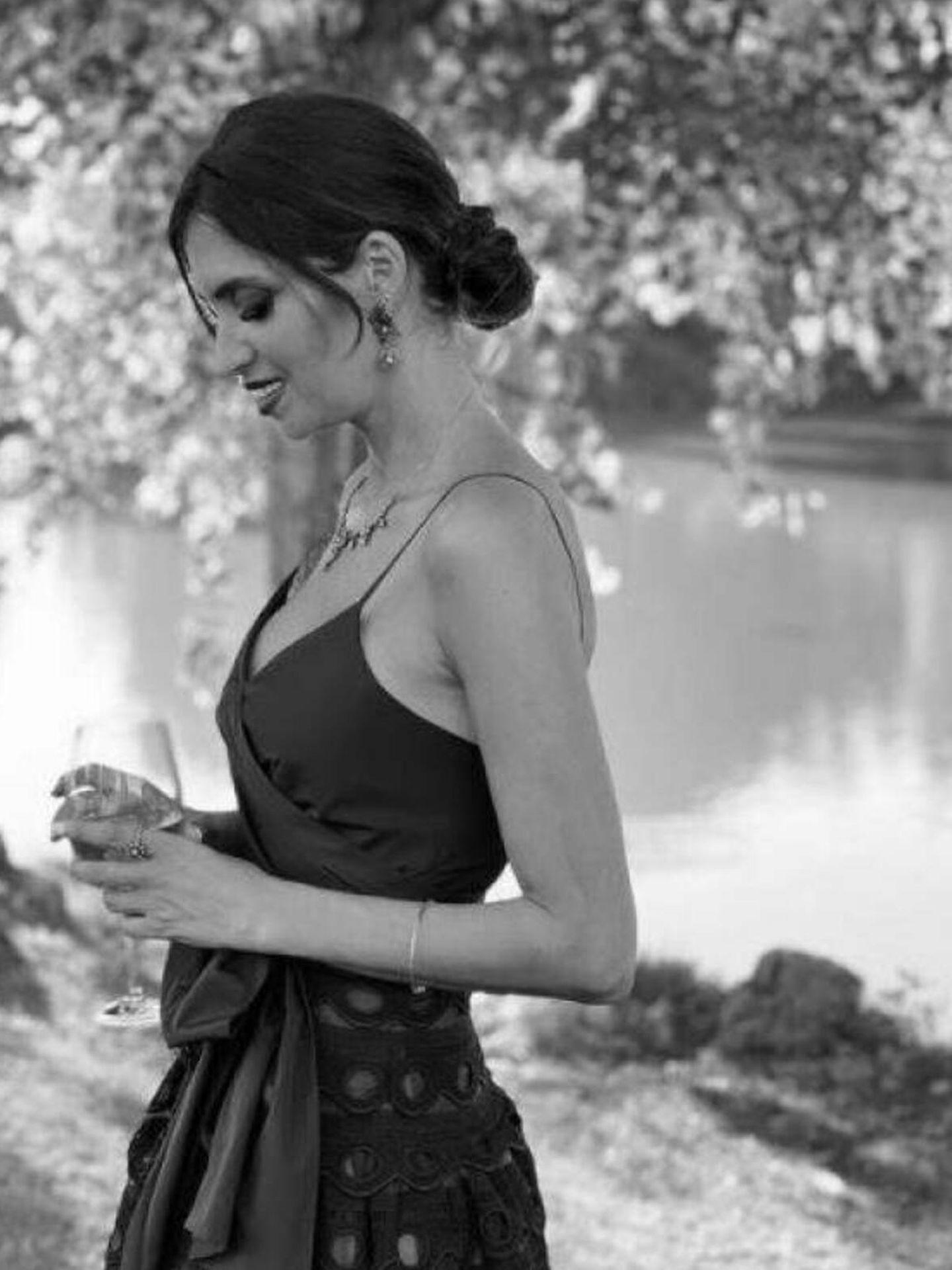 Sara Carbonero, en la boda de su amiga. (Instagram)