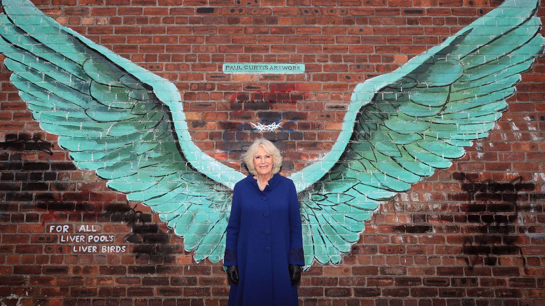 Camilla Parker en su reciente visita a Liverpool. (Getty)