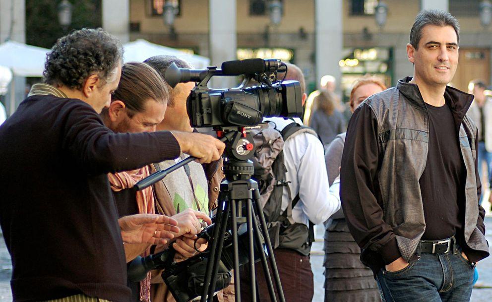Foto: Ramón Campayo durante la grabación de un documental sobre la memoria. (Speed Memory/Facebook)