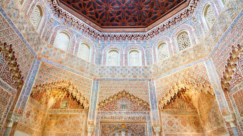 Interior de la Madraza en Granada.
