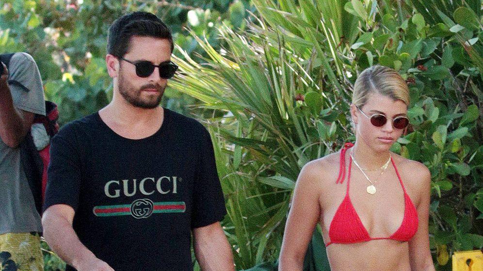 Foto: Scott Disick y Sofía Richie durante sus vacaciones en Miami. (Gtres)