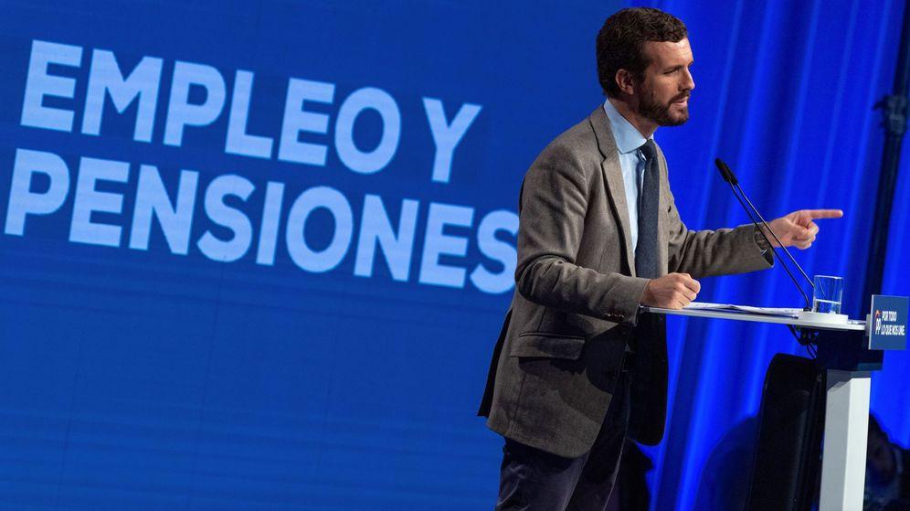 Foto: Pablo Casado clausura un acto del PP en Toledo. (EFE)