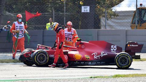 Carlos Sainz sufre un fuerte accidente en los entrenamientos libres de Monza