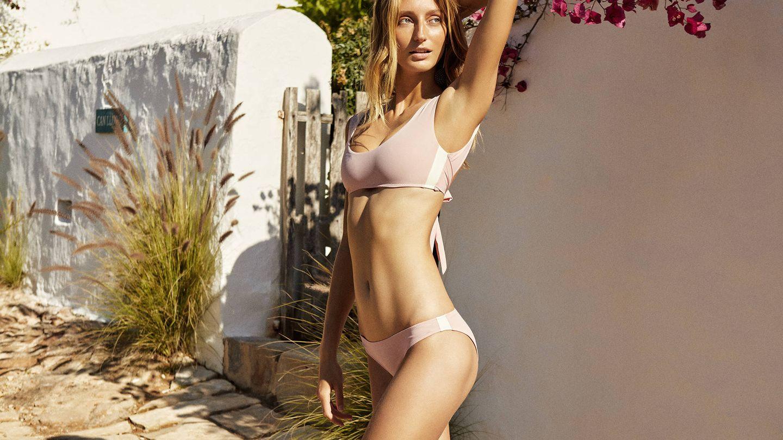 Bikini rosa de la colección de Laura Vecino. (Cortesía)