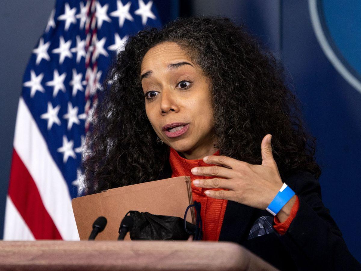 Foto: Julissa Reynoso, durante una rueda de prensa. (EFE)
