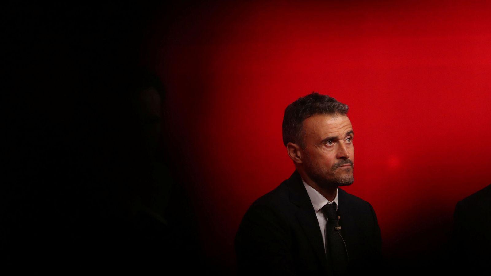 Foto: Luis Enrique, durante su presentación como seleccionador nacional. (Reuters)