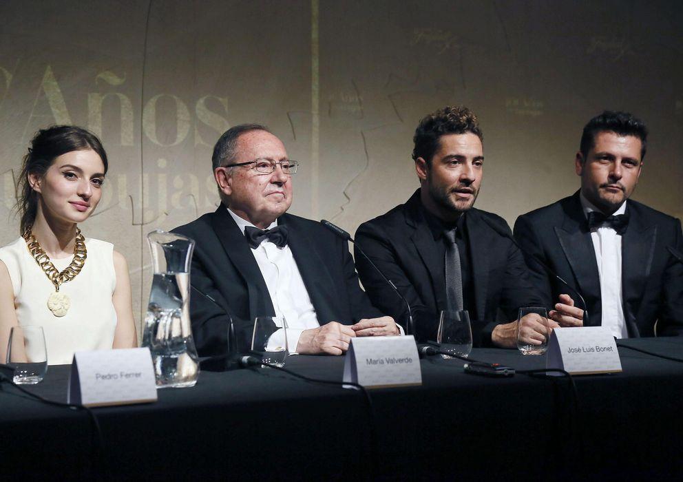 Foto: Juan Antonio Seijo (2i), Ignacio Larracoechea (3i), Fernando Burgaz (3d) y César Valencoso (d). (E. Villarino)