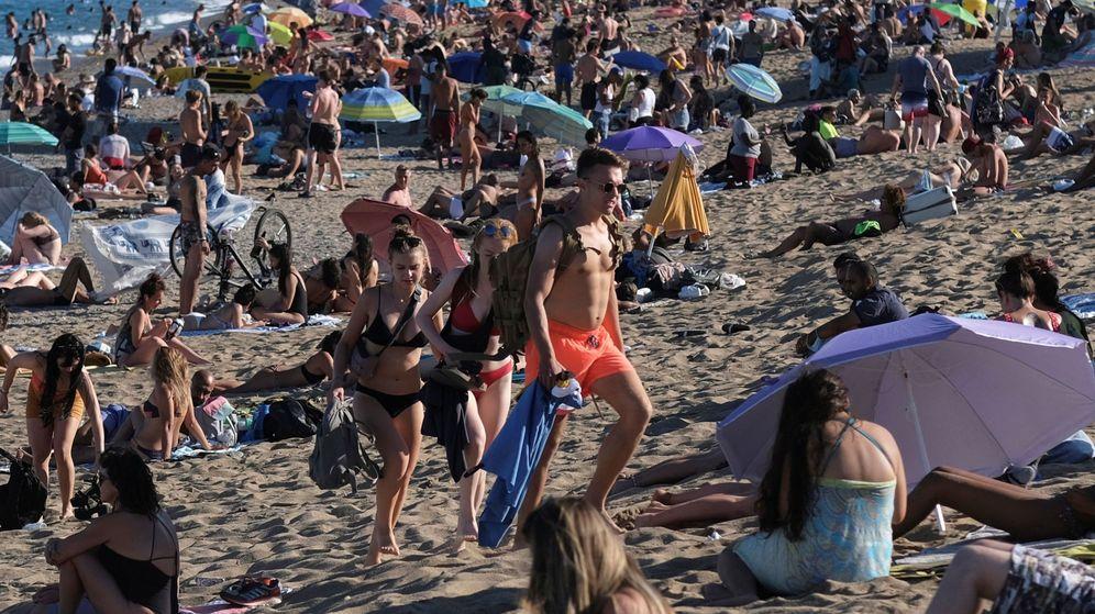 Foto: Playa de la Barceloneta, el pasado 19 de julio. (Reuters)