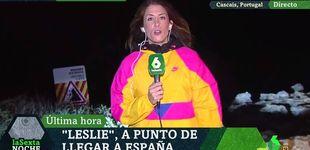 Post de Una reportera de La Sexta se la juega informando del huracán Leslie en directo