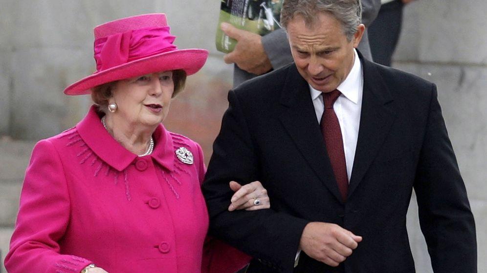 Foto: Thatcher y Blair, el signo de la era posimperial. (Reuters)