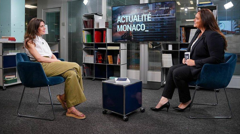 Carlota Casiraghi, en el informativo monegasco. (@monacoinfo)