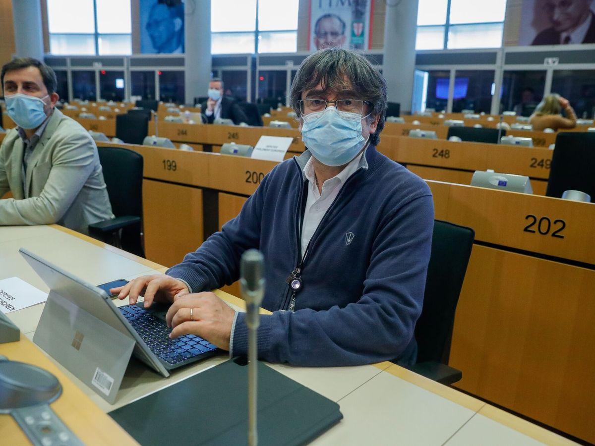 Foto: Carles Puigdemont, esta semana, en el Parlamento Europeo. (EFE)