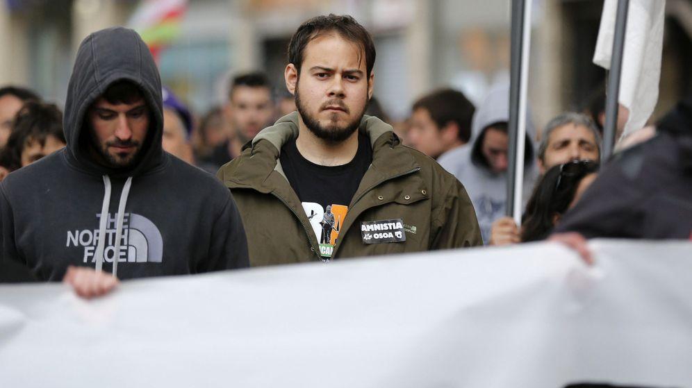 Foto: El rapero Pablo Hasel en una manifestación en Bilbao