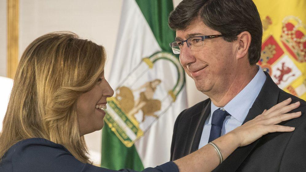 Foto: La presidenta andaluza, Susana Díaz, y el presidente de Ciudadanos Andalucía, Juan Marín. (EFE)