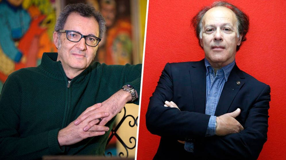 Foto: Eloy Tizón y Javier Marías