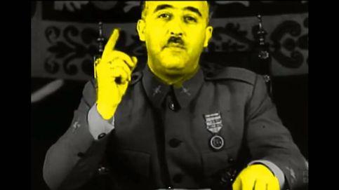 """Dos mil catalanes gritan """"¡soy extremeño!"""" ante una foto de Franco"""