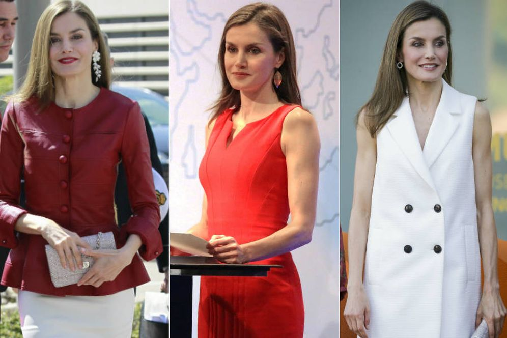 Foto:  Los tres looks de la Reina Letizia esta semana. (Gtres)