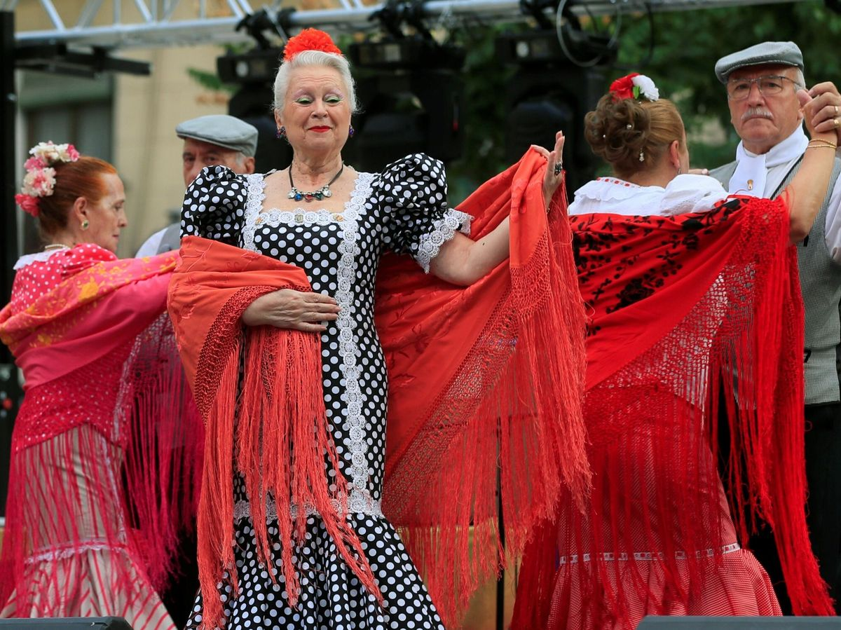 Foto: Actuación en Madrid, dentro de las celebraciones de las fiestas de La Paloma. Foto: Efe