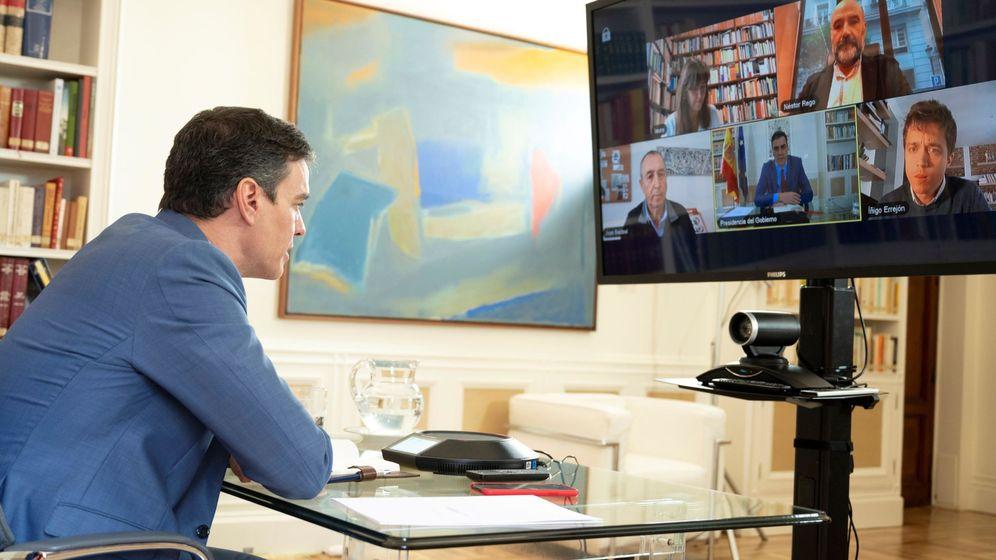 Foto: Sánchez en su rueda de contactos con otros partidos. (EFE)