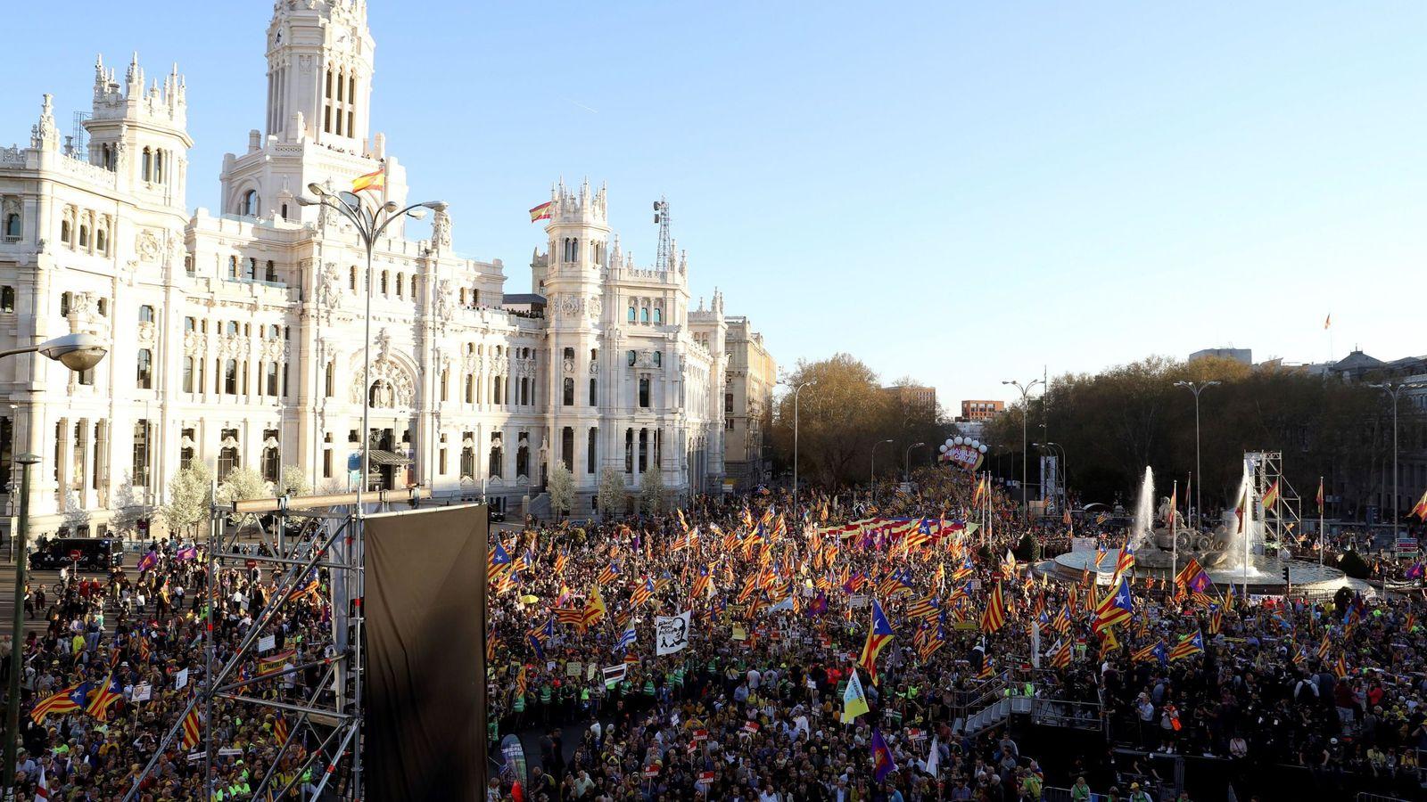 Foto: Manifestación independentista en Madrid. (EFE)