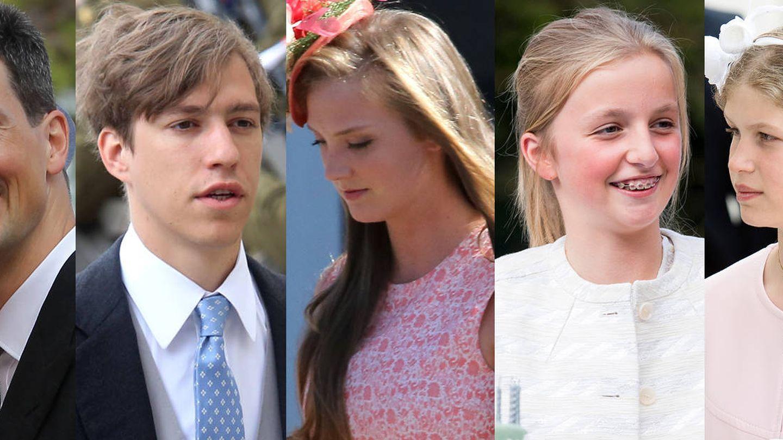 Louis de Cambridge, Alois de Liechtenstein, Louis de Luxemburgo, María Luisa y Louise de Bélgica, Lady Louise Windsor y Marta Louise de Noruega.
