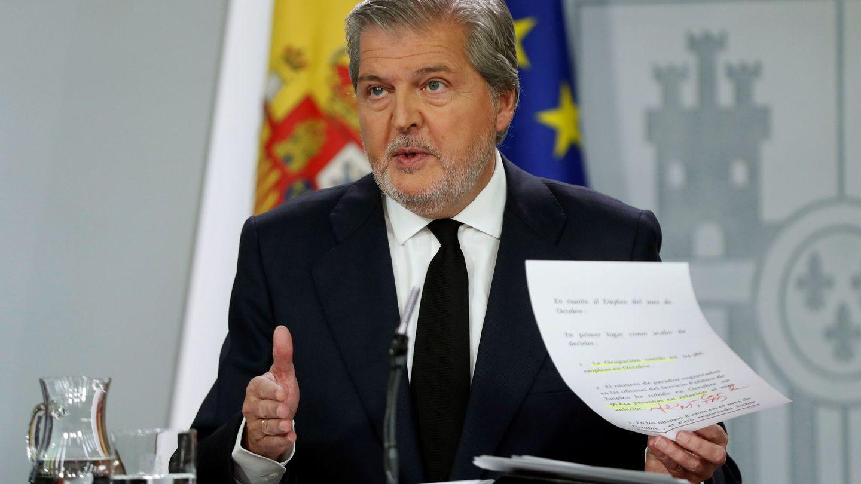 El ministro de Educación y portavoz del Gobierno, Íñigo Méndez de Vigo. (EFE)