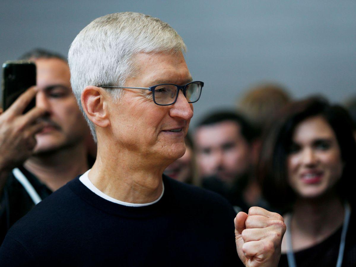Foto: Tim Cook, durante una presentación de un producto de Apple en California. (Reuters)