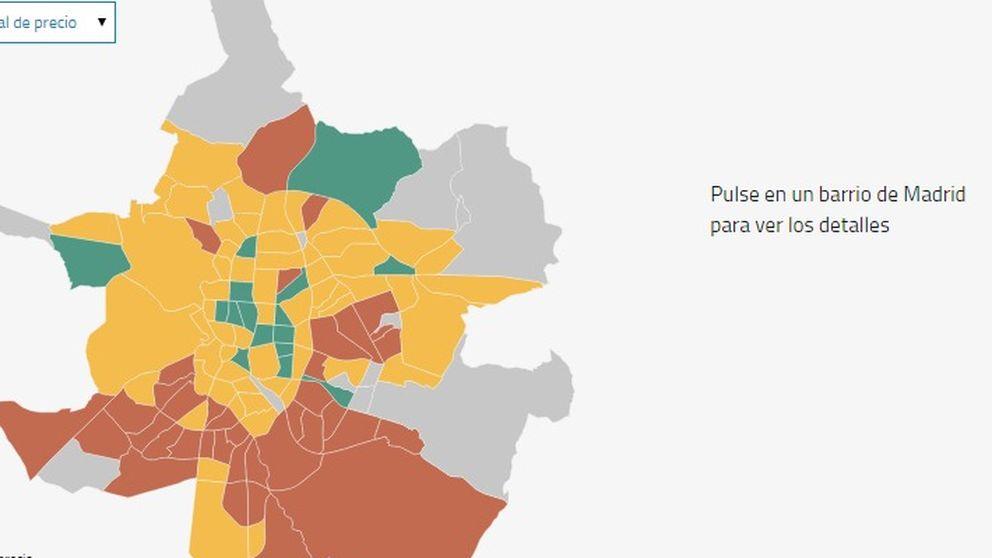Si vas a comprar casa en Madrid, mira el metro cuadrado por barrios