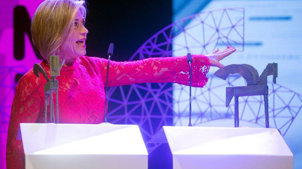 Foto: Julia Otero en la 65º edición de los Premios Ondas. (EFE)
