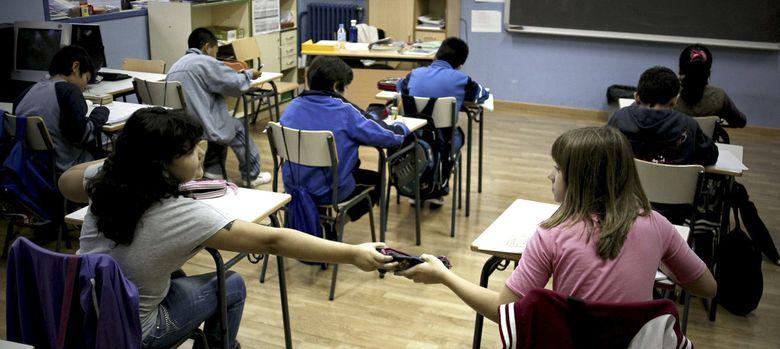 Foto: Aula del Colegio Público Palacio Valdés de Madrid. (Efe)