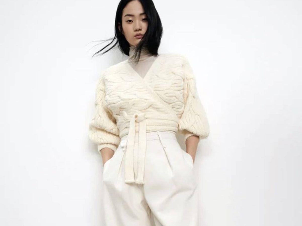Foto: La chaqueta de punto de Zara. (Cortesía)