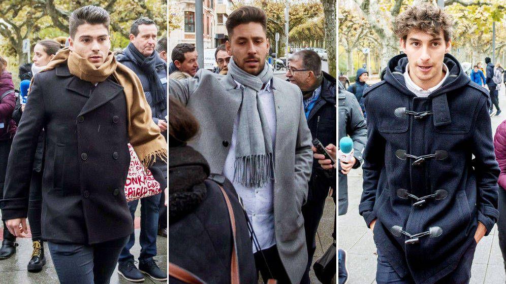 Foto: Los tres exjugadores de la Arandina, condenados a 38 años de cárcel.