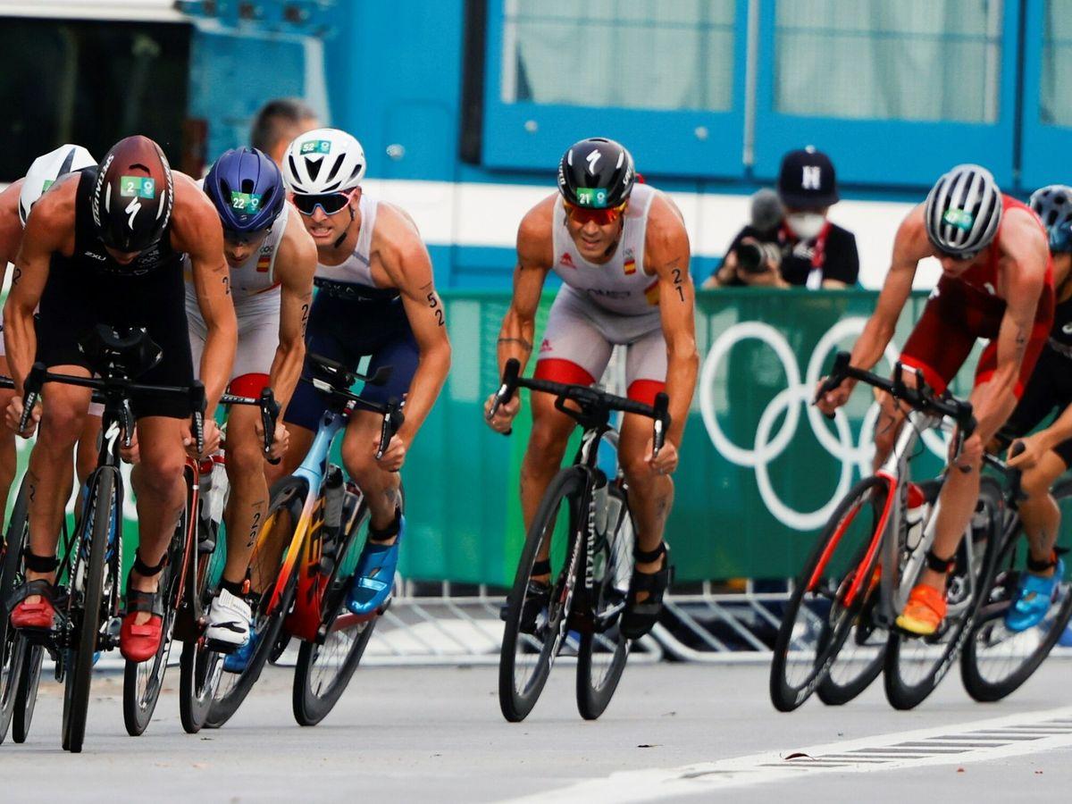 Foto: Imagen de la prueba de triatlón (Reuters)