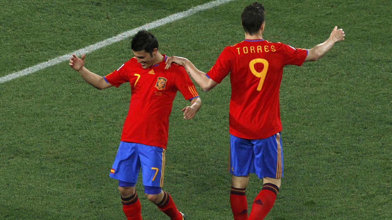 David Villa y Fernando Torres formaron una gran pareja de ataque. (Reuters)