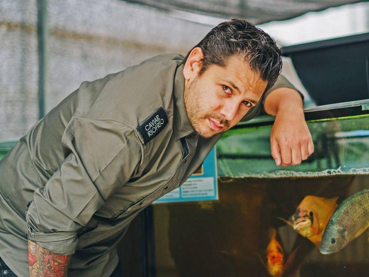Foto: Diego, en su propio acuario personal.