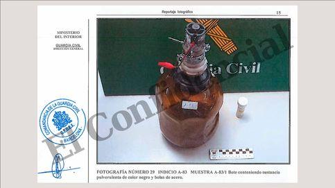Las imágenes del laboratorio de los CDR: nitrato, termita, granada de mortero y ácido