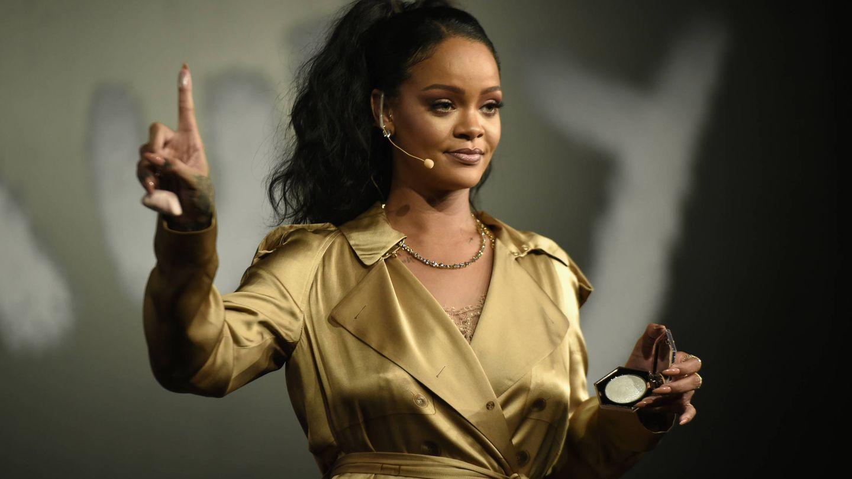 Rihanna, en una presentación de Fenty Beauty. (Getty)