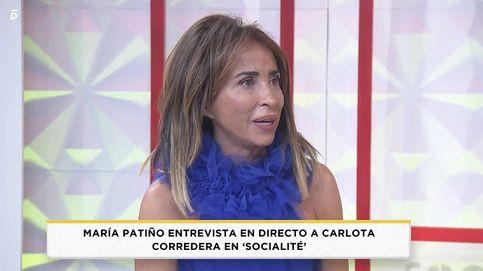 María Patiño, a lágrima viva en 'Socialité' por unas palabras de Carlota Corredera