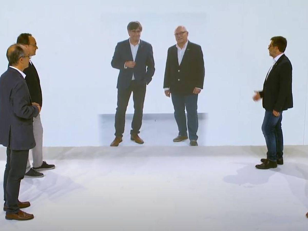 Foto: Puigdemont en el acto de presentación de Junts.