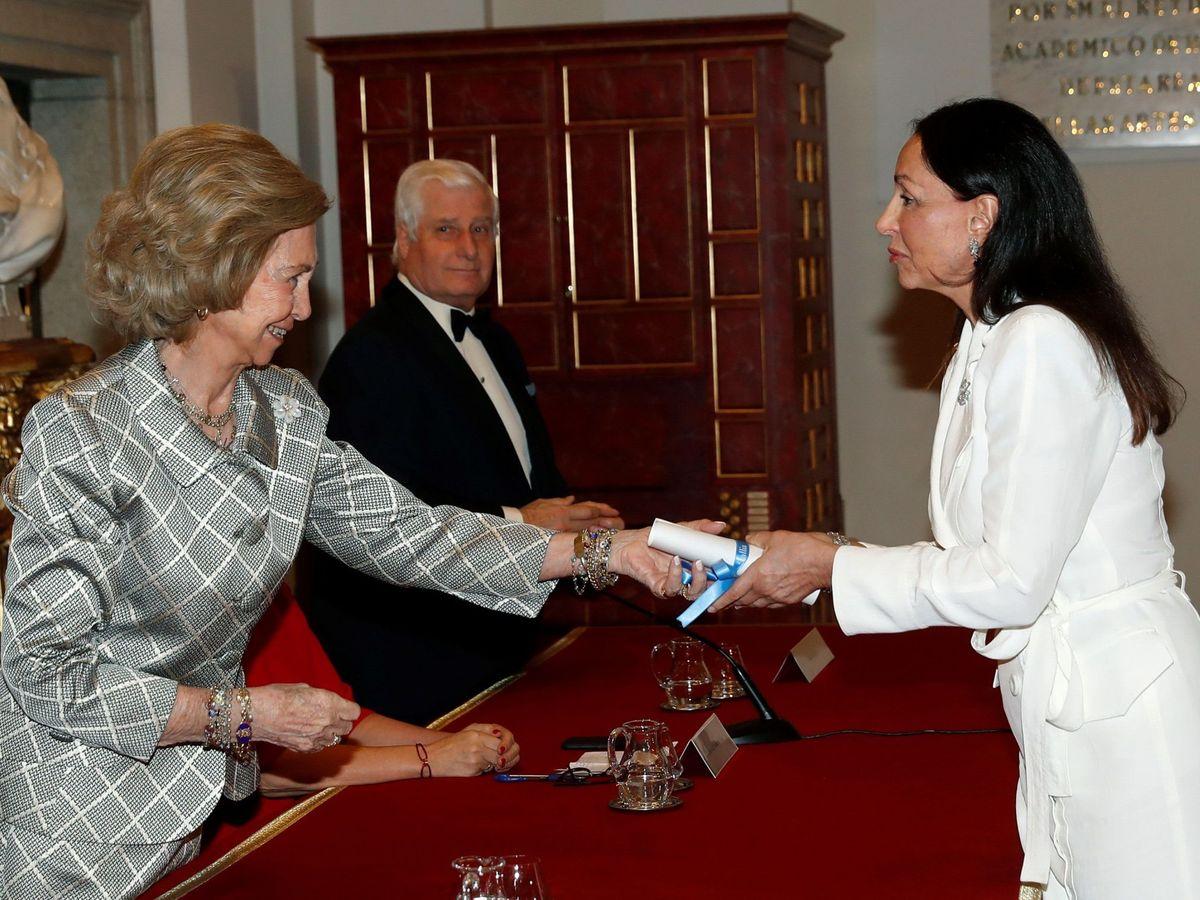 Foto: La reina Sofía con Esther Koplowitz. (EFE)