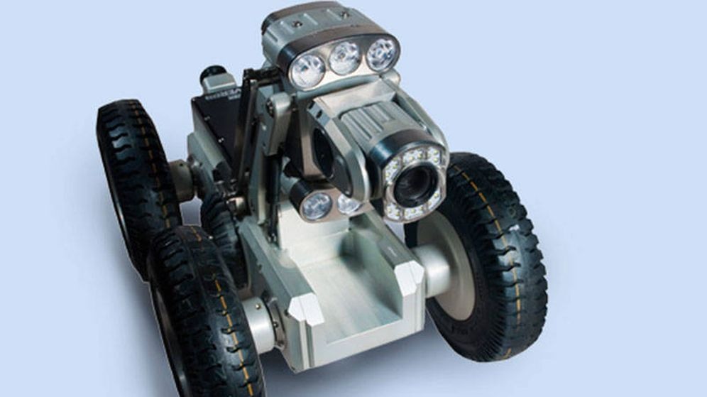 Foto: El coche robot de Limpiezas Pepe Núñez que se está usando en el equipo de rescate
